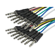 1 Meter (3ft) 8-Channel 1/4inch TRS Male to 1/4inch TRS Male Snake Cable
