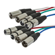 2 Meter (6ft) 4-Channel (2 upstream & 2 downstream) XLR Male to XLR Female Snake Cable
