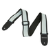 Monoprice 2-inch Guitar Strap - Nylon with Leather Ends - Gray & Black