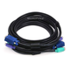Monoprice Molded 3-In-1 KVM Cables, SVGA PS/2 M/M - 10FT (Black)