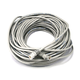 100FT 24AWG Cat5e 350MHz UTP Crossover Bare Copper Ethernet Network Cable - Gray