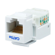 Cat5E RJ-45 Toolless Keystone Jack in White
