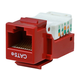Cat5E RJ-45 Toolless Keystone Jack in Red