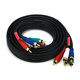 Monoprice 6ft 22AWG 5-RCA Component Video/Audio Coaxial Cable (RG-59/U) - Black