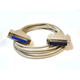 6ft Null Modem DB25 M/F Molded Cable