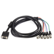 VGA HD-15 to 5 BNC RGB Video Cable for HDTV Monitor cable -  6FT  (Black)