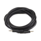 25ft 3.5mm Stereo Plug/Plug M/M Cable - Black