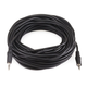 50ft 3.5mm Stereo Plug/Plug M/M Cable - Black