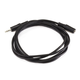 6ft 3.5mm Stereo Plug/Jack M/F Cable, Black