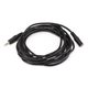 12ft 3.5mm Stereo Plug/Jack M/F Cable - Black