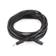 25ft 3.5mm Stereo Plug/Jack M/F Cable - Black