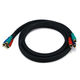 6ft 22AWG 3-RCA Component Video Coaxial Cable (RG-59/U) - Black