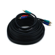 25ft 22AWG 3-RCA Component Video Coaxial Cable (RG-59/U) - Black