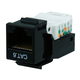 Cat6 RJ-45 Toolless Keystone - Black