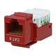 Cat6 RJ-45 Toolless Keystone - Red