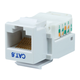 Cat6 RJ-45 Toolless Keystone - White