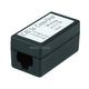 Monoprice Cat5e Crossover Inline Coupler - Black