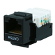 Cat5E RJ-45 Toolless Keystone Jack in Black