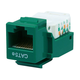 Cat5E RJ-45 Toolless Keystone Jack in Green