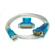 USB to RS232 DB9 Male and DB25 Male Serial Converter Cable