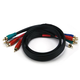 3ft 22AWG 5-RCA Component Video/Audio Coaxial Cable (RG-59/U) - Black