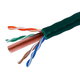 1000FT Cat 6 Bulk Bare Copper Ethernet Network Cable UTP, Stranded, In-Wall Rated (CM), 550MHz, 24AWG - Green