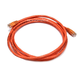 Monoprice Cat6 Ethernet Patch Cable - Snagless RJ45, Stranded, 550Mhz, UTP, Pure Bare Copper Wire, Crossover, 24AWG, 7ft, Orange