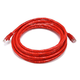 14FT 24AWG Cat6 500MHz Crossover Bare Copper Ethernet Network Cable - Red