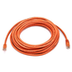 25FT 24AWG Cat6 500MHz Crossover Bare Copper Ethernet Network Cable - Orange