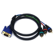 Monoprice 3ft VGA to 3 RCA Component Video Cable (HD15 - 3-RCA)
