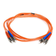 Fiber Optic Cable, ST/ST, OM1, Multi Mode, Duplex - 2 meter (62.5/125 Type) - Orange