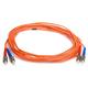 Fiber Optic Cable, ST/ST, OM1, Multi Mode, Duplex - 5 meter (62.5/125 Type) - Orange