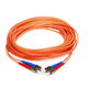 Fiber Optic Cable, ST/ST, OM1, Multi Mode, Duplex - 10 meter (62.5/125 Type) - Orange