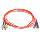 Monoprice Fiber Optic Cable - ST to SC, OM1, 62.5/125 Type, Multi Mode, Duplex, Orange, 2m, Corning
