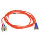 Monoprice Fiber Optic Cable - ST to SC, OM1, 62.5/125 Type, Multi Mode, Duplex, Orange, 3m