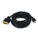 15ft 28AWG HDMI to M1-D (P&D) Cable, Black
