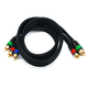 3ft 18AWG CL2 Premium 3-RCA Component Video Coaxial Cable (RG-6/U) - Black