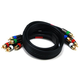 3ft 18AWG CL2 Premium 5-RCA Component Video/Audio Coaxial Cable (RG-6/U) - Black