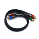 Monoprice 1.5ft 18AWG CL2 Premium 3-RCA Component Video Coaxial Cable (RG-6/U) - Black