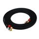 12ft Premium 2 RCA Plug/2 RCA Plug M/M 22AWG Cable - Black