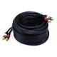 35ft Premium 2 RCA Plug/2 RCA Plug M/M 22AWG Cable - Black