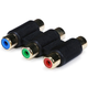 3-RCA RGB Coupler for Component Video Cable Extension