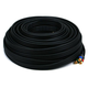 Monoprice 100ft 18AWG CL2 Premium 3-RCA Component Video Coaxial Cable (RG-6/U) - Black