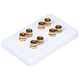 High Quality Banana Binding Post Wall Plate for 4 Speaker - Coupler Type