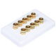 High Quality Banana Binding Post Wall Plate for 5 Speaker - Coupler Type
