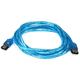 6ft SATA External Round Cable - eSATA to eSATA (Type I to Type I) - UV Blue