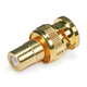 BNC Male to RCA Female Adapter - Gold Plated