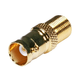 BNC Female to F Female Adapter - Gold Plated
