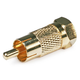 Monoprice RCA Male to F Male Adapter - Gold Plated