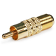RCA Male to F Female Adapter - Gold Plated